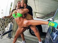 Anal sex in the airport garage with Franceska Jaimes